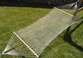 Two person 440lb capacity white cotton rope beach yard lawn camping hamm... - $39.00