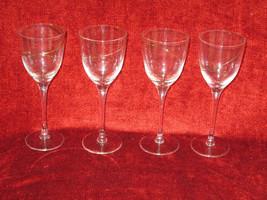"Colony  Crystal  Strata gold swirl set of 4 wine goblets 8 1/4"" - $59.35"