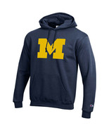 Classic Champion Michigan Collegiate Hoodie in Sz Medium in Navy - $24.74