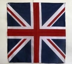 """Wholesale Lot 6 22""""x22"""" UK United Kingdom Flag Cotton Bandana - $14.88"""