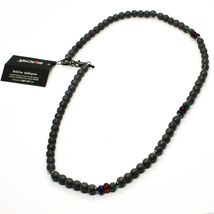 925 Sterling Silver Necklace Burnished with Hematite & Agate Made in Italy By image 7