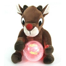 Dan Dee Animated Singing Rudolph the Reindeer Plush Lighted Message Fan ... - $24.70