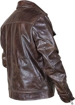 Vintage Motorcycle Copper Rub Off Classic Distressed Brown Biker Leather Jacket image 3