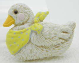 Vintage 1986 MORGAN Co ENESCO Resin Duck Pin Brooch - $11.88