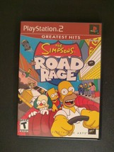The Simpsons: Road Rage (PlayStation 2 PS2, 2001) Complete  - $8.44