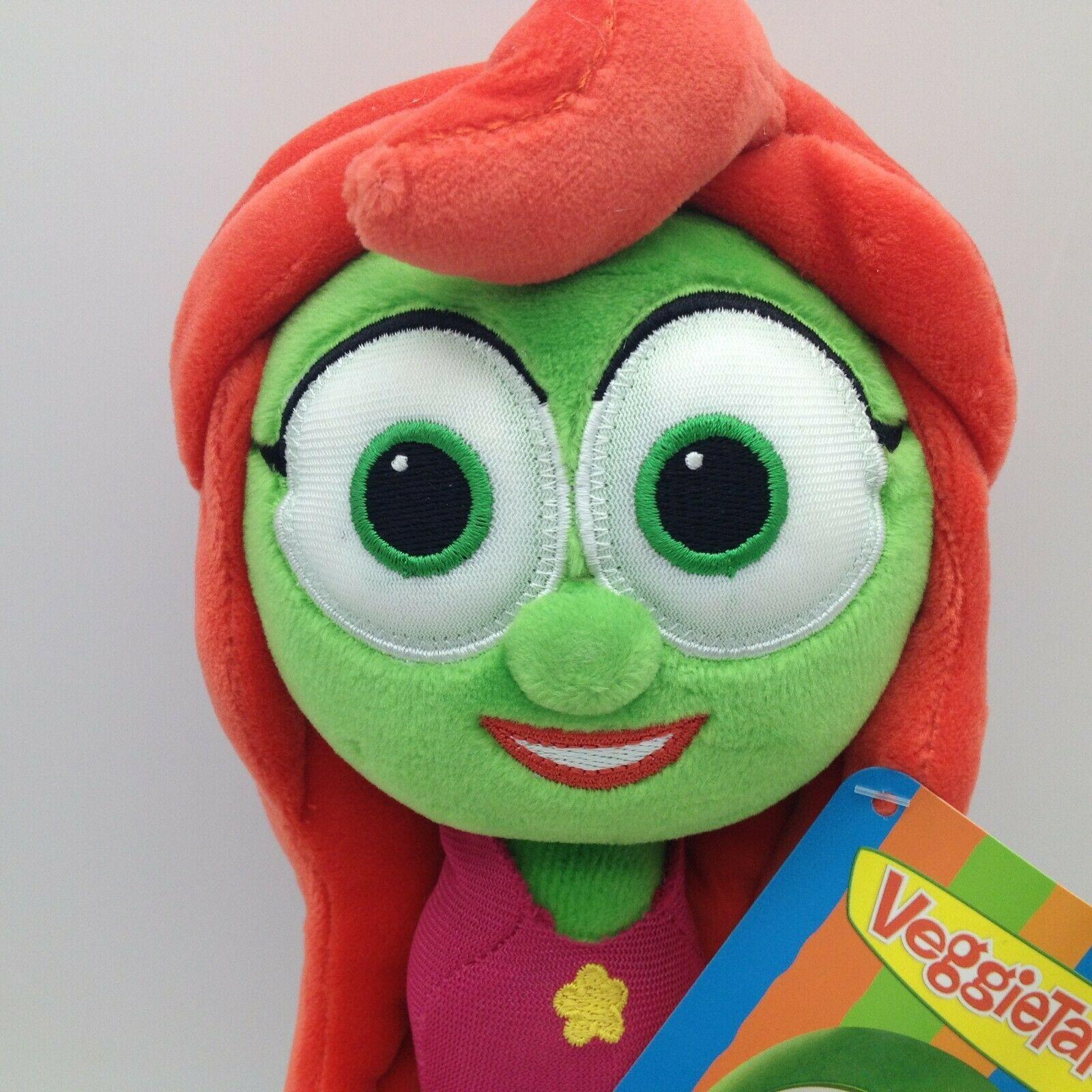 "Enesco Veggietales Petunia Rhubarb Plush Doll Toy 11"" Tall Super Soft Veggie image 4"