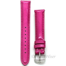 MS16AA350653 Michele 16mm Raspberry Genuine Patent Leather Strap - $34.42