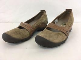 Merrell Ortholite Air Cushion Womens 6 Plaza Bandeau Tan Mary Jane Slip On Shoes - $28.71