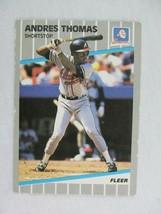 Andres Thomas Atlanta Braves 1989 Fleer Baseball Card 604 - $0.98
