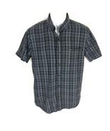 Volcom Boys Black Button Down Shirt M  - $14.84