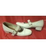 "F01 Promenaders white sq dance shoes. Elasticized instep strap. 1"" heel.... - $9.89"