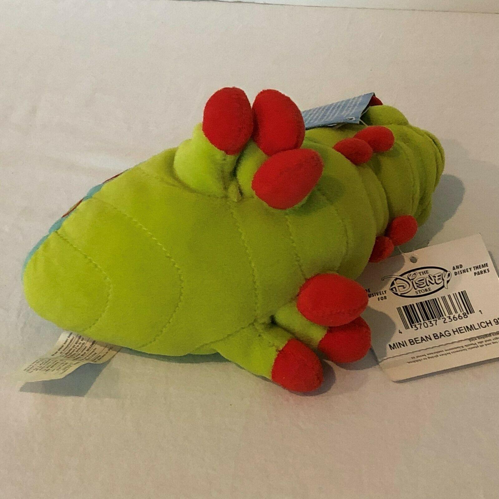 "Disney Store A Bugs Life Heimlich Caterpillar Beanie Plush Stuffed Animal 8"" image 4"