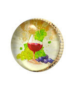 Set of 2 - Iron knobs – Wine Glass Napa Valley Artwork under Glass - SALE  - $3.99
