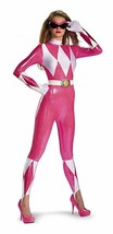 Disguise Pink Power Ranger Adult Womens Sassy Bodysuit Halloween Costume... - $47.89+
