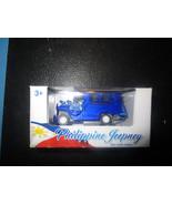 Philippine Jeepney Blue Die-Cast Metal PULLBACK ACTION - $7.83
