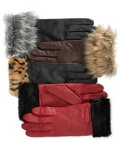 Charter Club Faux Fur-Cuff Gloves (Java, S) - $44.47