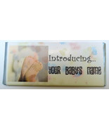 Customized Candy Bar Wrapper Baby Feet Birth Announcement - $24.95