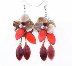 Long Statement Trendy Jewelry Elegant Resin Crystal Flowers Chain - $9.99