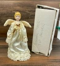"Vintage Ceramic Angel Tree Table Topper 10"" Tall - $19.65"