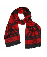 Versace Collection Black & Red Mens Scarf ISC40R1WIT02855I4081 - $125.00