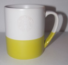 Starbucks Mermaid Logo Two Tone Coffee Cup 4in Mug NEW 2014 White Green 14oz - $15.99
