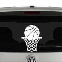 Basketball in Net Vinyl Decal Sticker - $3.16+