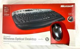 NIB Sealed 2003 Microsoft Wireless Optical Desktop Keyboard Mouse w/ Tilt Wheel - $59.99