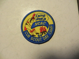 CAMP AKELA,NCAC 84'CUB SCOUT DAY CAMP BSA,BOY SCOUTS OF AMERICA PATCH,OLD - $14.25