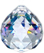 Magnificent 70mm Prism Faceted Clear Crystal Ball Feng Shui Rainbow Maker - $35.85