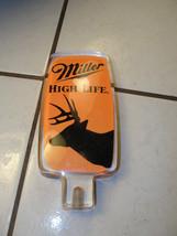 Miller High Life orange deer hunters lucite tapper, advertising, buck si... - $70.40
