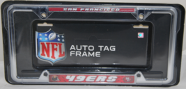SAN FRANCISCO 49ERS NFL CHROME LICENSE PLATE FRAME - $9.99