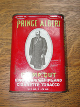 Old red Prince Albert Crimp Cut pocket size tob... - $17.33