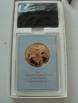 Operation Desert Storm Eyewitness Commemorative Medal, Bronze, Franklin Mint - $33.25