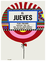 El Jueves, Thursday vintage Movie POSTER.Graphic Design.Wall Art Decoration.3451 - $10.89+