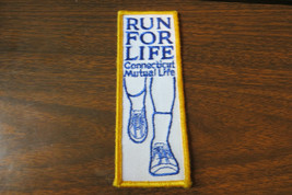 RUN FOR LIFE,CT.MUTUAL LIFE,INSURANCE EMBROIDERED ADVERTISING LOGO CO PATCH - $11.40