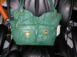 Nwt Jessica Simpson Rare Metro Tote Faux Snake Green New - $80.00
