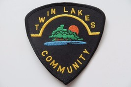 TWIN LAKES COMMUNITY destination city logo collectible souvenir patch - $14.25