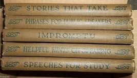 Set of 5 books by Grenville Kleiser;Impromptu;Speeches-Study;Speaking;St... - $74.98