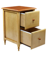 WOOD Buttermilk & Cherry Finish Top 2 Drawer Le... - $189.99