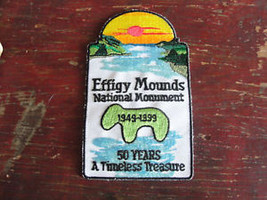 effigy mounds National Monument,dated1949-99,50yr old lake,souvenir isla... - $14.20