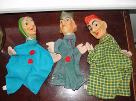 rare Punch & Judy ,Hand puppets, vintage, cloth body, plastic head, old - $156.75