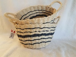 Paper Weaving Baskets Set of 2 - 1 basket 8 inches and 1 basket  9.5 inches - $15.51