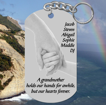 Grandmother Keychain Gift. Personalized FREE with all the grandkids name... - $9.95