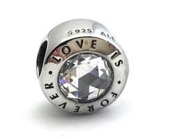 Authentic Pandora Love Is Forever Sterling Silver and CZ Charm, 791813CZ, New - $53.19