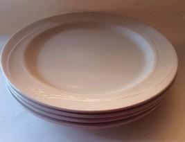 "ESPREE Oneida Coupe Chop Plates Set 4 RestaurantWare 12"" White Embossed ... - $39.62"