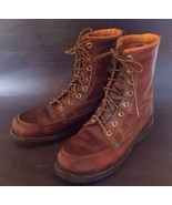 Herman Survivor Men 5 N Hunting Boots Circa 1960s Leather Birding Shoote... - $72.93