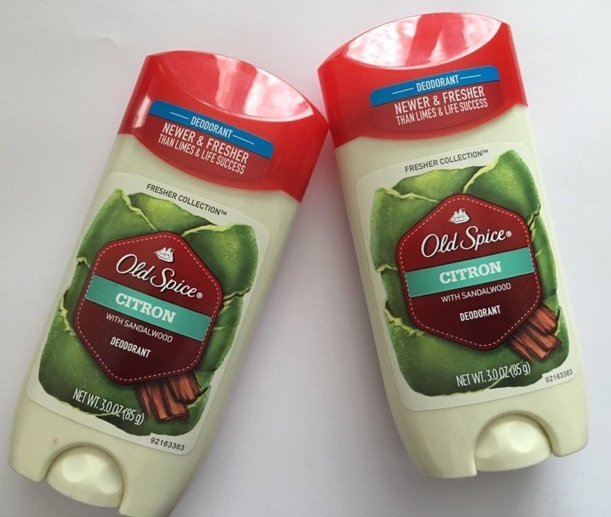 2 Pack Old Spice® Deodorant Citron with Sandlewood 3.0 oz Fresher Collection NEW