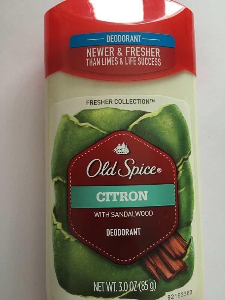 2 Pack Old Spice® Deodorant Citron with Sandlewood 3.0 oz Fresher Collection NEW image 2