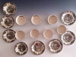 THE ICE HOUSE Johnson Bros Lot Of 15 Cups Saucers THE STONE WALL Saucers... - $86.96