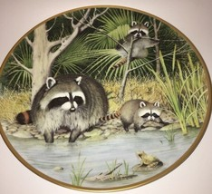 "Franklin Porcelain Plate The Woodland Year ""Cur... - $37.36"